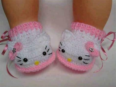 imagenes de la kitty bebe zapatitos hello kitty beb 233 tejidos a mano crochet varios