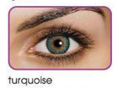 1 pair of turquoise 3 tone contact lenses