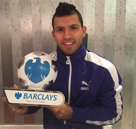 epl november player of the month sergio aguero bags barclays premier league player of the