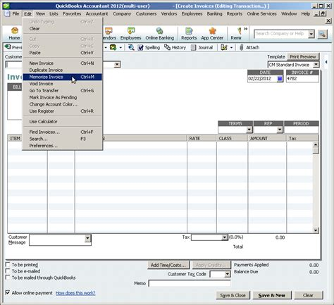 Memorized Transactions In Quickbooks How Do I Change Invoice Template In Quickbooks