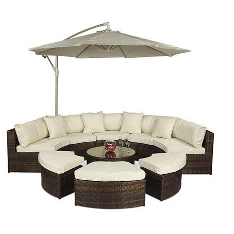 half circle sofa set monaco rattan garden furniture semi circle sofa set