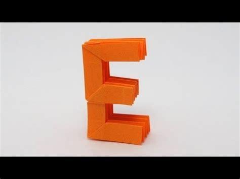 Origami Letter E - origami letter e