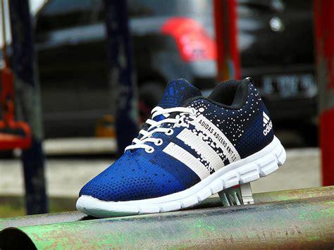 jual sepatu sport adidas adizero knit 2 0 biru joging