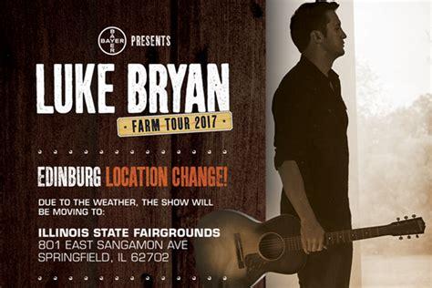 luke bryan farm tour lineup luke bryan farm tour concert moved to il state fair