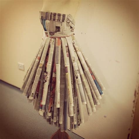 How To Make A Mannequin Out Of Paper Mache - dress of newspaper by abrown94 on deviantart