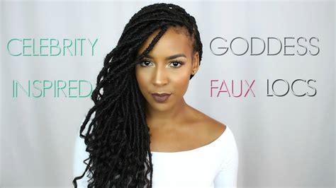 Goddess Faux Locs Tutorial   YouTube