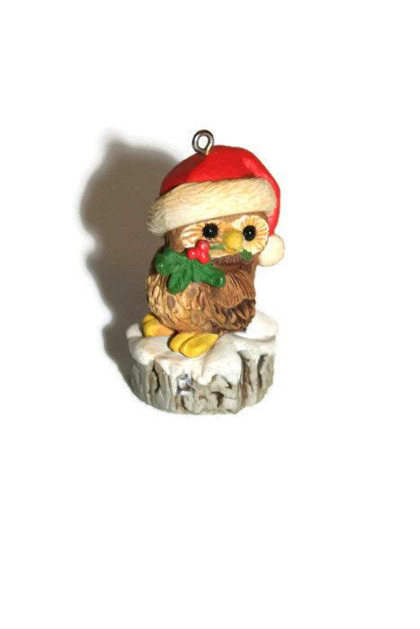 hallmark ornament 1980 christmas owl vintage ornament