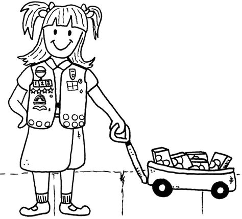 Brownie Girl Scouts Coloring Pages Coloring Home Scout Brownies Coloring Pages Free