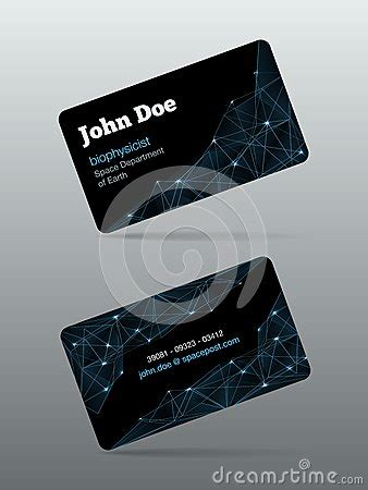 futuristic business card template futuristic business card stock image image 35649091