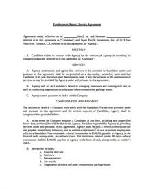 Recruitment Contract Template by Service Agreement 9 Free Pdf Word Documents