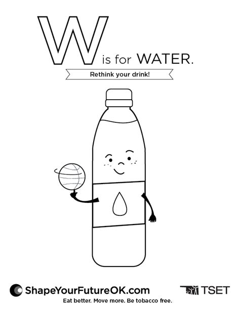 W Is For Water Coloring Page by Coloring Pages Shape Your Future Oklahoma