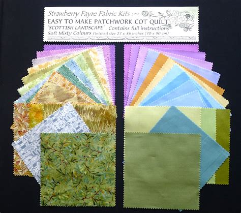 Patchwork Cot Quilt Kits - news info strawberry fayre fabrics