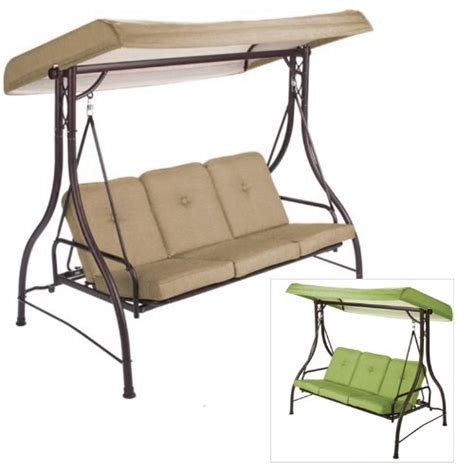 garden winds replacement swing canopy garden winds lawson ridge 3 person swing replacement