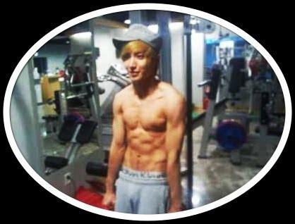 Gantungan Kunci Kaleng Kpop Junior Member Yesung pic leeteuk dan tubuh kekarnya
