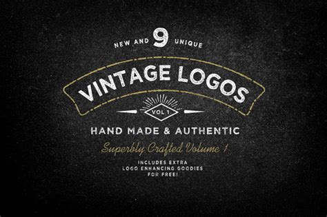 free retro logo templates 25 beautiful vintage logo templates creative market