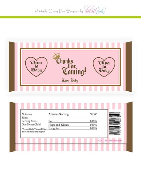 Items Similar To Juicy Couture Inspired Candy Bar Wrapper Printable Diy On Etsy Chocolate Wrapper Template