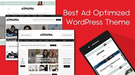 Themeforest Youtube | best wordpress theme for adsense admania from