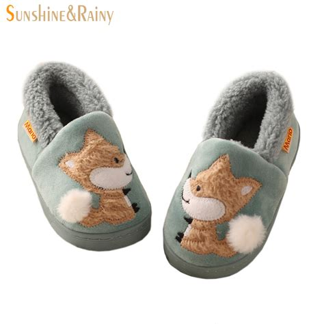 kids bedroom slippers winter kids slippers boys girls household cotton shoes