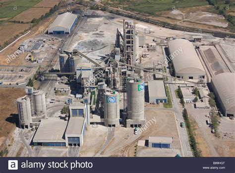 cement factory cement plant chile stock photo royalty free image