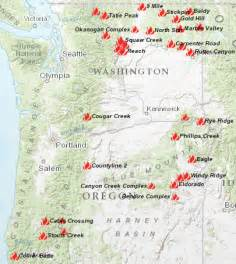 map of oregon fires wildfires continue to rage my columbia basin