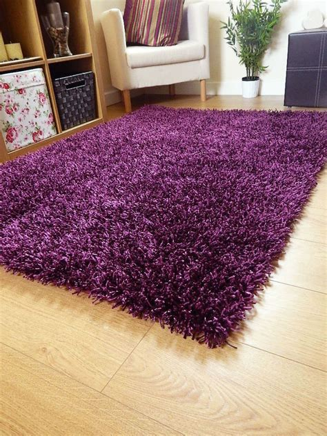 large purple rugs new small large silky purple rugs shaggy sparkle circle area rug ebay
