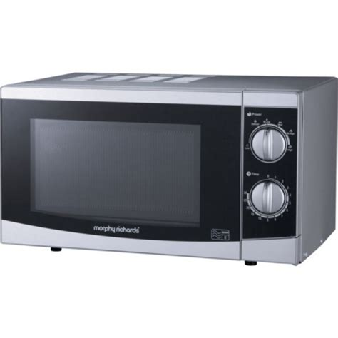 morphy richards 20l stainless steel microwave oven counter morphy richards p80h20p 20l solo microwave s steel