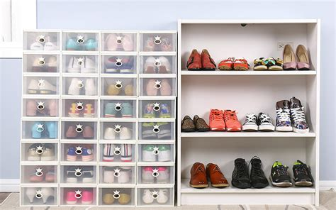 best shoe storage boxes how to organize your closet for