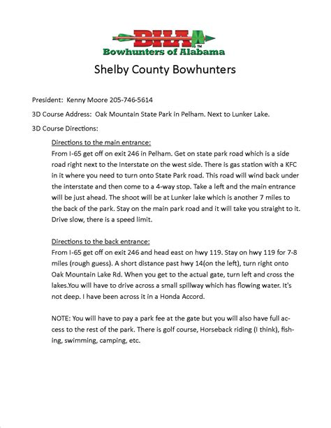 Shelby County Alabama Records Shelby County Bow Hunters Of Alabama