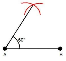 Drawing 60 Degree Angle how to draw a 30 degree angle from a 60 degree angle with