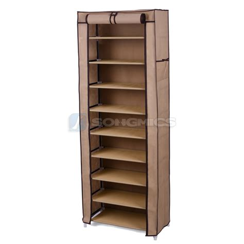 shoe storage rack organizer songmics shoe rack shoes cabinet stand standing storage