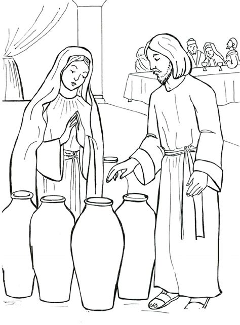 coloring pages jesus first miracle marriage at cana coloring page wedding at cana