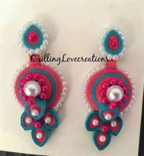 How To Make Paper Stud Earrings - 1000 images about quilled earring on paper