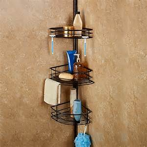 Shower Rack Bed Bath Beyond pole shower caddy clean up the look of your bath tub and shower area