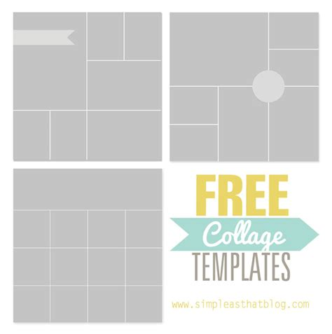Free Photo Collage Templates From Simple As That Collage Template