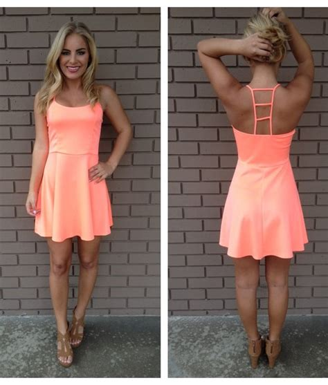 Baru Diamore Top Tassel Order neon coral ladder back dress