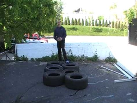 tire obstacle course youtube