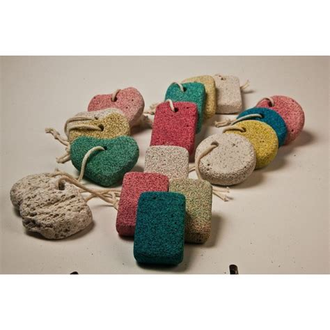 pumice color pumice in 3 different shapes and colors