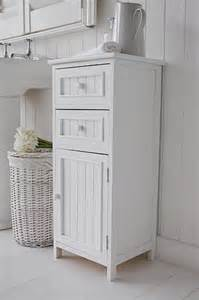 maine bathroom slim cabinet with drawers cupboard white