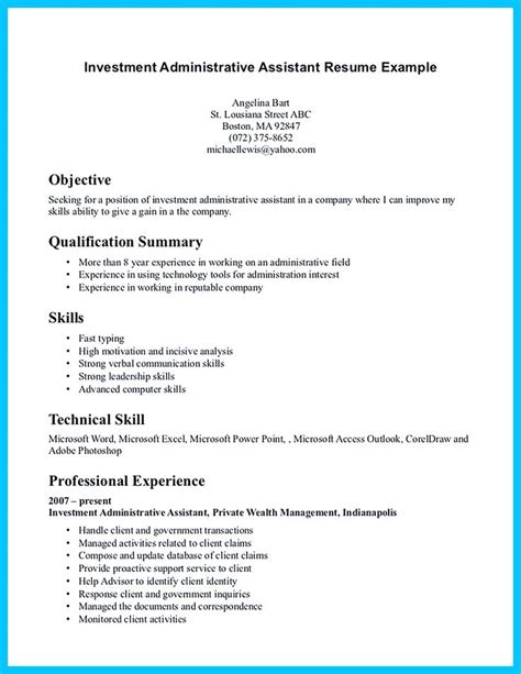 sle of administrative assistant resume in writing entry level administrative assistant resume