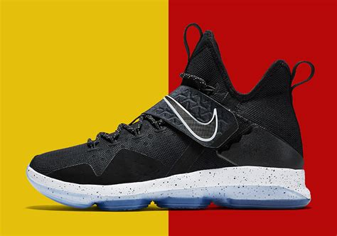 lebron 14 shoes black and white