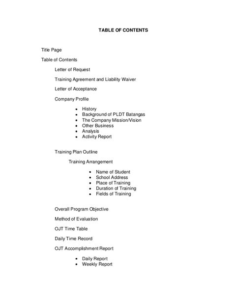 Request Letter Pldt Ojt Documentation
