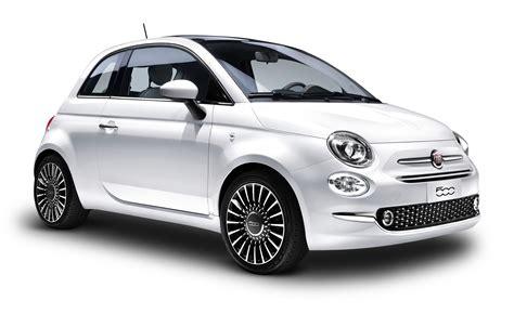 fiat car white fiat 500 car png image pngpix