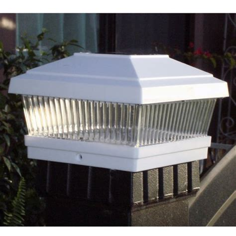 solar lights for fence posts gtmax plastic white square fence post cap solar powered
