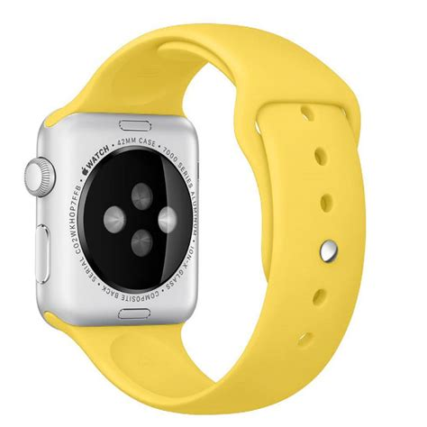 Apple Sport Band Only Yellow 42 Mm apple 42mm sport band yellow pdair 10