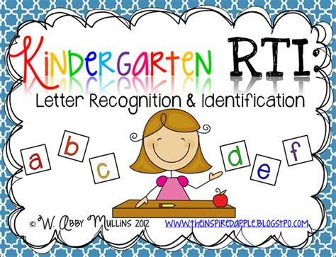 Research Based Letter Recognition Strategies The Inspired Apple Kindergarten Rti Letter Identification Recognition