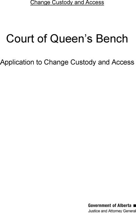 court of queen s bench of alberta free alberta application kit for both custody and access