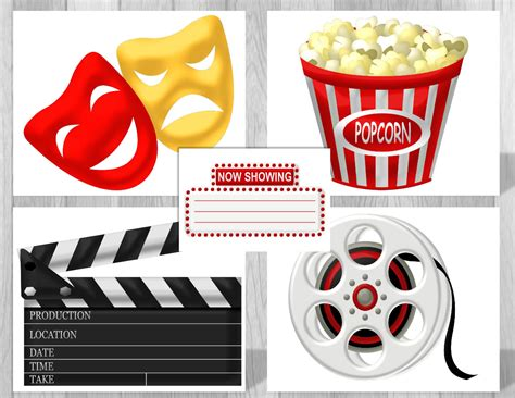 printable movie party decorations printable hollywood movie party supplies movie theme