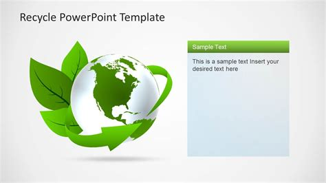 recycling powerpoint eco friendly powerpoint template with recycle icons
