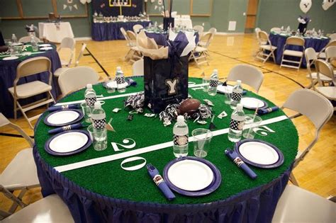 football banquet centerpieces football season is here and this would be a theme for