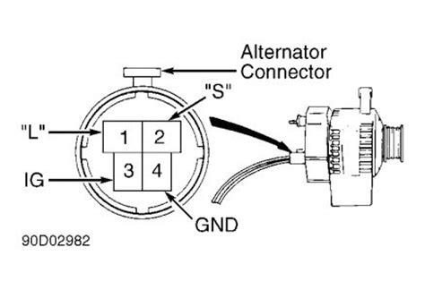 97 isuzu rodeo alternator wiring diagram get free image